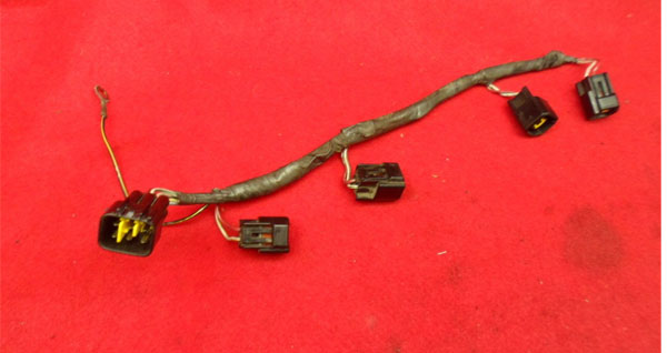 00-02 Kawasaki ZX6R 05-08 ZZR600 Ignition Coil Wire Harness ... on