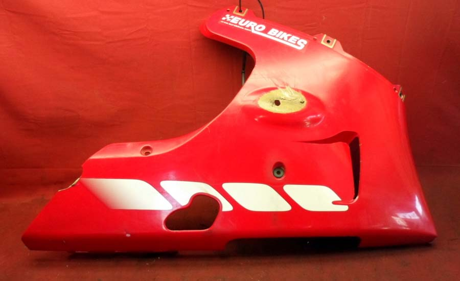 98 99 Yamaha YZF R1 Right OEM Lower Fairing Cowl Red OEM a366